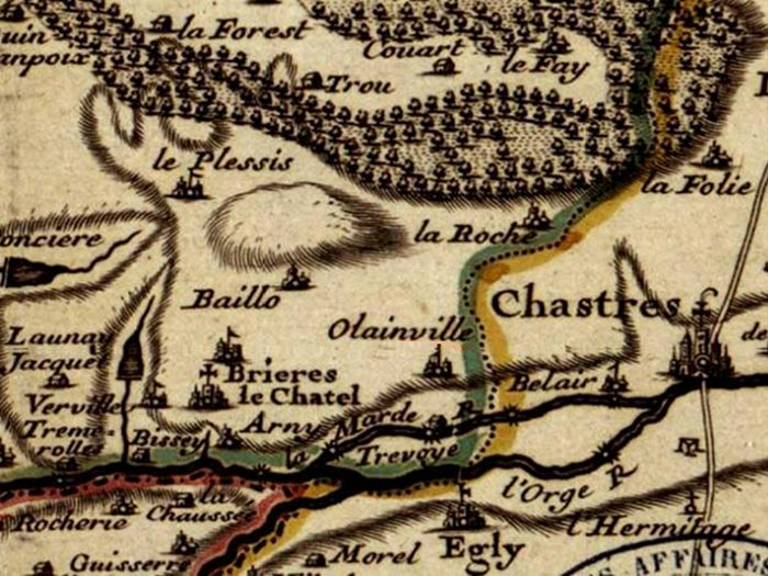 Olainville (Carte Cassini)